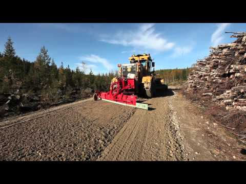 Mählers Gravel Spreader for Road Graders