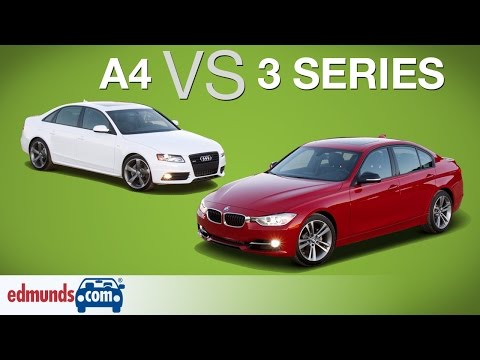 Audi A4 vs BMW 3 Series   Edmunds A-Rated Luxury Sedans Face Off