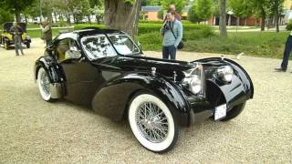 Gorgeous Bugatti Type 57SC Atlantic Coupé replica - startup and turnaround