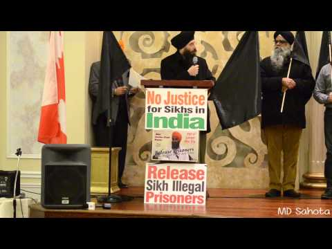 Punjabi Post - Martin Singh at Black Flag Rally for Bhai Gurbaksh Singh Khalsa