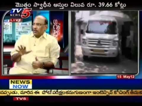 Debate On 'IT Raids On Chiranjeevi Son-in-Law House'(TV5)-Part05