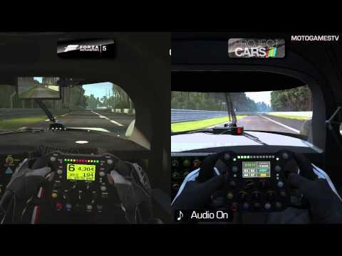 Forza Motorsport 5 vs Project CARS Build 798 - Audi R18 at Circuit de la Sarthe