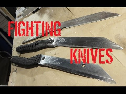 MINI BUILD: Hedge Clipper Fighting Knives!