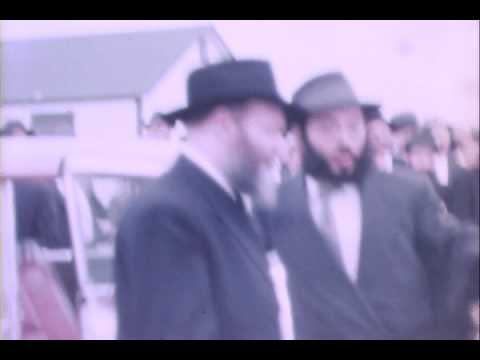 Lubavitcher Rebbe visits Camp Gan Yisroel in 1960