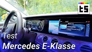 Mercedes E-Klasse mit Widescreen-Cockpit ? Test