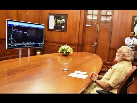 PM Modi witnesses the launch of navigation satellite PSLV-C33/IRNSS-1G