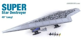 LEGO Star Wars Super Star Destroyer review! 4 feet long! set 10221