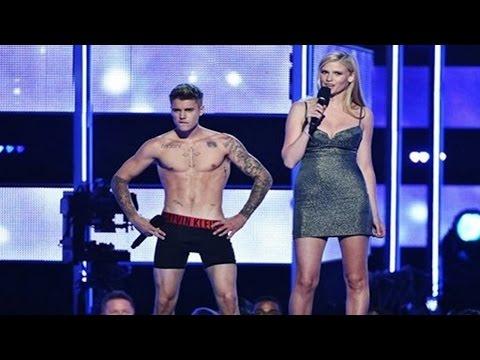 Justin Bieber Strips Down To His Underwear On Stage