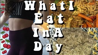 what i eat in a day (for college) + my workout routine