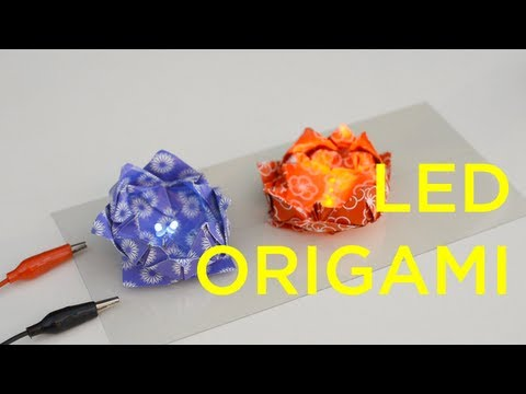 LED Origami - Lotus Flower & Frog
