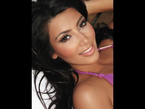 Celebrity Makeup Series - Kim Kardashian Bronzey Look!