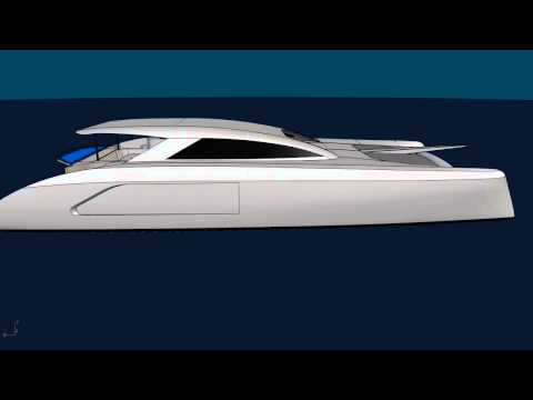 G-Force 1800 CAD Rendering - Schionning Designs - Catamaran Kit
