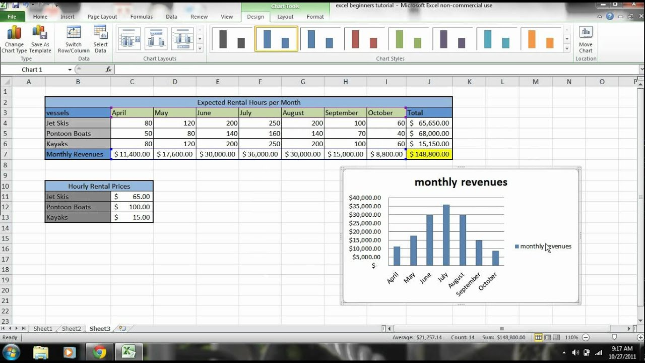 Excel 2010 Tutorial for Beginners - Part 3 - YouTube
