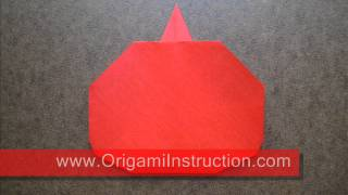 How To Fold Origami Apple - Origamiinstruction.com