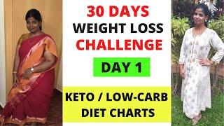 DAY 1 - 30 DAYS WEIGHT LOSS CHALLENGE | 10-15kgs எடை குறைக்கலாம் வாங்க | WEEK1 DIET CHARTS