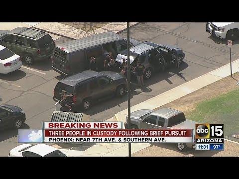 People arrested after brief pursuit