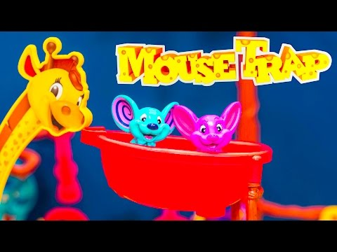 MOUSE TRAP Game Blaze Monster Truck Plays Shopkins Family Game Night Video
