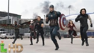 Captain America Civil War - AIRPORT BATTLE [HD 1080] (Only Fight Scenes)