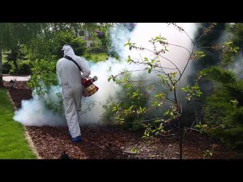 Zamgławianie Łomianki  Pulsfog K-10 zwalczanie komarów