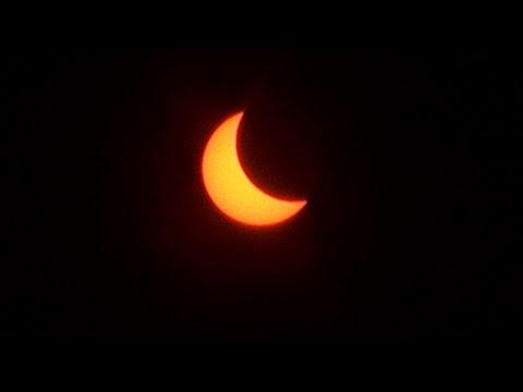 Saulės užtemimas Vilniuje (solar eclipse in the capital of Lithuania)