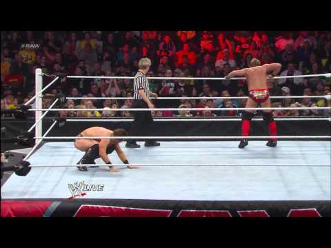 The Miz vs. Chris Jericho vs. Wade Barrett - Intercontinental Title Triple Threat Match: Raw, March