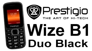 Простой недорогой мобильник Prestigio Wize B1 Duo Black Simple and Inexpensive Mobile Phone