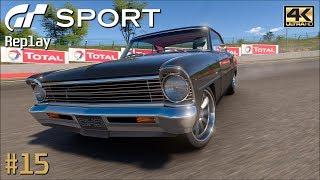Gran Turismo Sport - PS4 Pro Replay 4K 2160p / Chris Holstrom C. 1967 Chevy Nova / Auto. L. M. #15