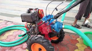 Power Weeder or Power Tiller or Small Tractor or Mini Inter cultivator used as Water pump