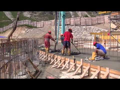 Cantieri nuove funivie monte Bianco Agosto 2013