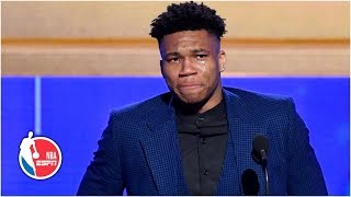 Giannis emotional thanking Bucks, family after winning MVP honors | 2019 NBA Awards