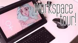 2016 Workspace Tour! - What do I use to draw?