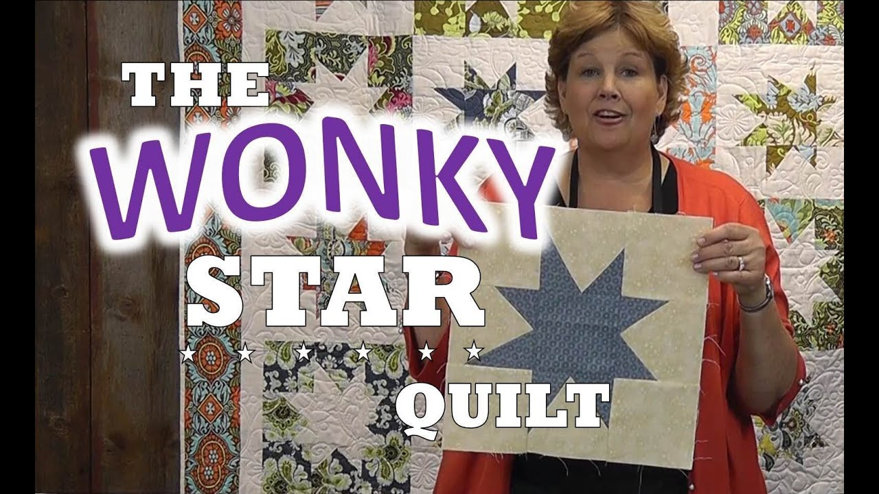 How To Make A Wonky Star Quilt Youtube