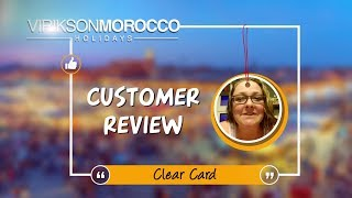 Words of Joy for Morocco Holidays - It was a pleasure to serve Clear Card