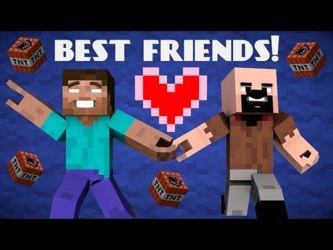 If Herobrine and Notch were Friends Minecraft