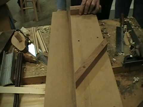 Creating a perfect mitered joint with a shooting board