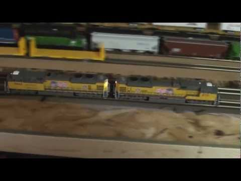 Guy Yelling at Model Trains (spoof of guy yelling at things)