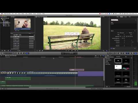 Final Cut Pro X Basics Tutorial Pt. 13 - Creating Titles & Text