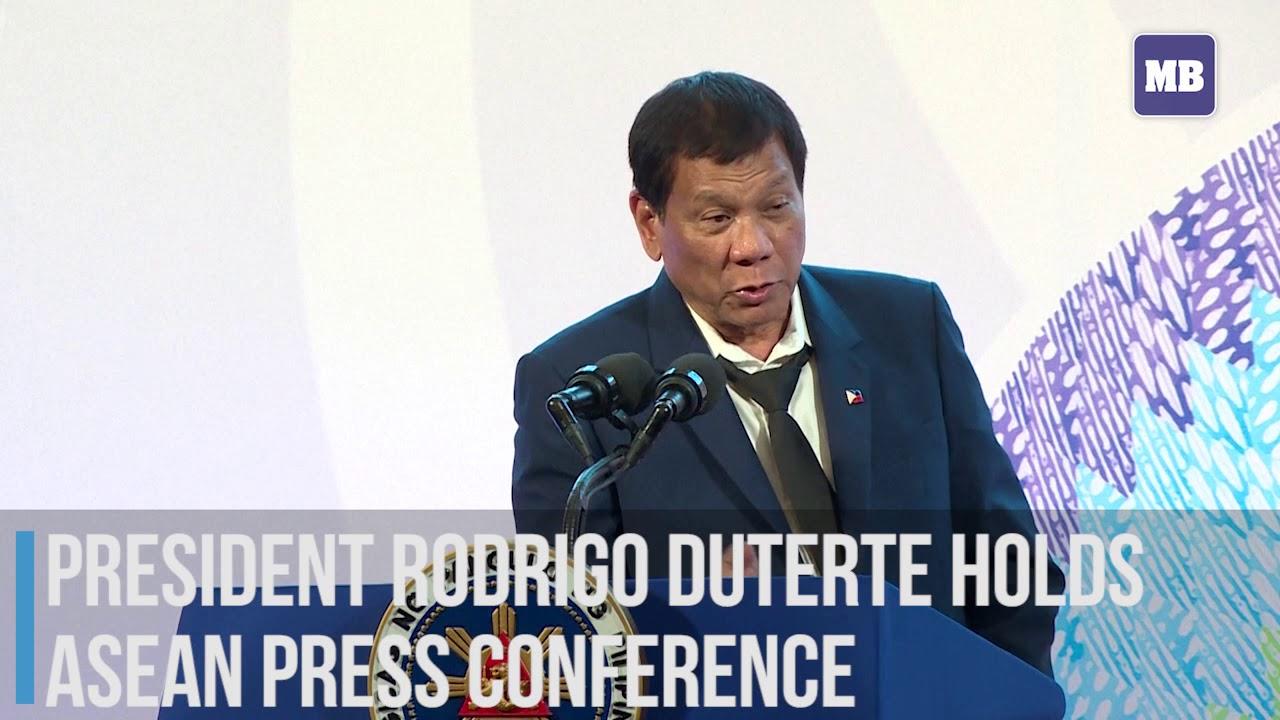 President Rodrigo Duterte holds ASEAN press conference