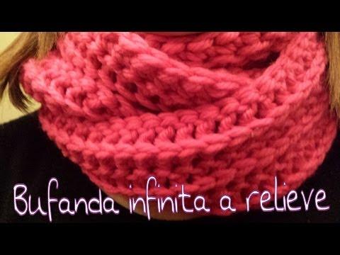 Bufanda Infinita en relieve / Infinity scarf in reliel ! (English Subtitels)