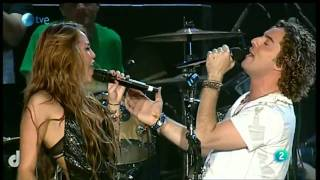 Клип Miley Cyrus - When I Look At You ft. David Bisbal (live)