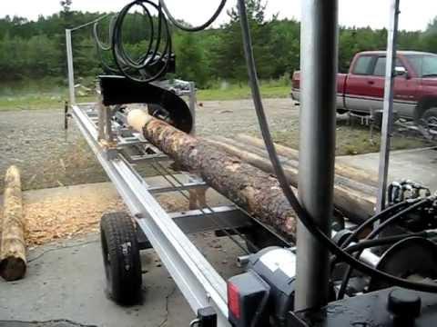 Log mill lathe youtube for Mill log
