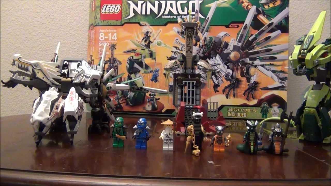 Lego Ninjago Epic Dragon Battle Instructions Lego Epic Dragon Battle 9450