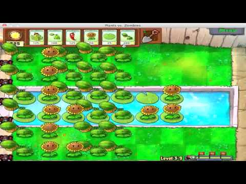 Let's Play Plants Vs. Zombies Challenge - Part 12, Awful Aquatic Antagonists