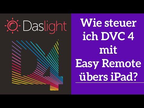 Wie steuer ich DVC 4 mit Easy Remote übers iPad? | Daslight 4 DVC4 Videotutorial