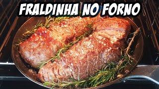 COMO FAZER FRALDINHA ASSADA NO FORNO   PARECE CHURRASCO   Novatos na Cozinha