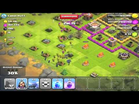 Clash of Clans - Road to 2k Trophies #1 - Perfect 5 PEKKA Attack | Let