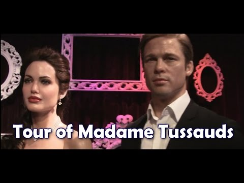 BEST Tour of Madame Tussauds in [HD] - FULL 360 UPCLOSE Fly Thru - Realistic Celebrities Wax