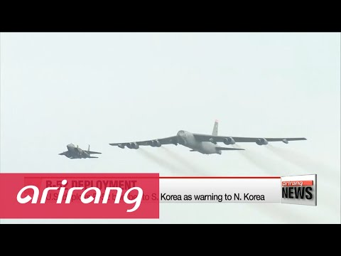 S. Korea, U.S. deploy B-52 bomber over Korean Peninsula