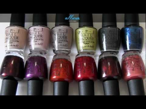 OPI Germany Collection: Live Swatches & Review
