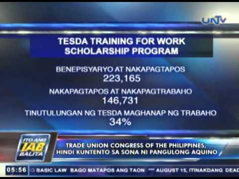 TUCP, hindi kuntento sa SONA ni Pangulong Aquino